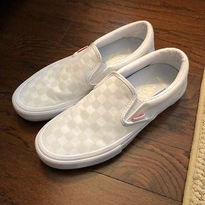 Vans Slip On Checkered White Size 9